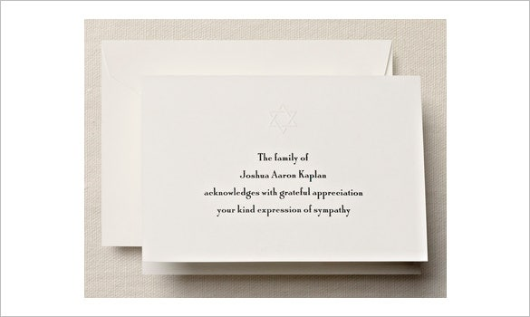 bifolded sympathy card for funeral