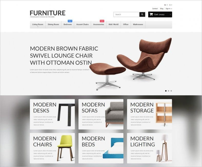 Biggest Furniture Store PrestaShop Template