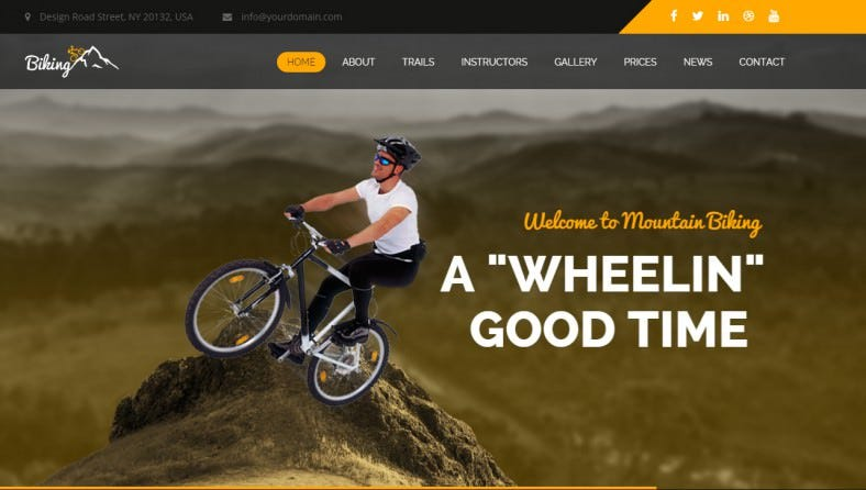 Bike Racing HTML Website Template