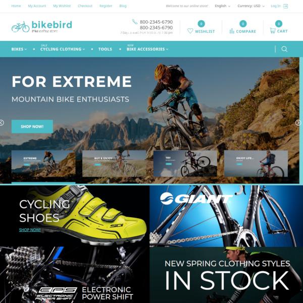 bikebird responsive bike store magento theme