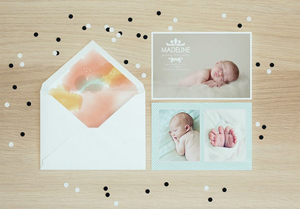 birth announcement liner envelope