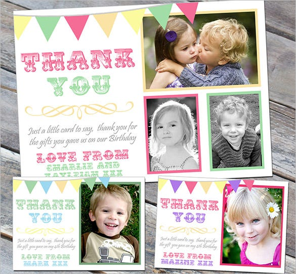 birthday thank you cards for boy girl