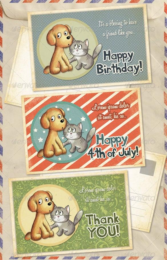 birthday thank you photo card
