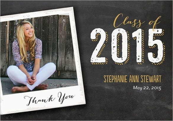 Graduation Thank You Cards: 19+ Graduation Thank You Cards