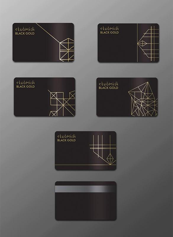 black gold pink gold membership card illustration