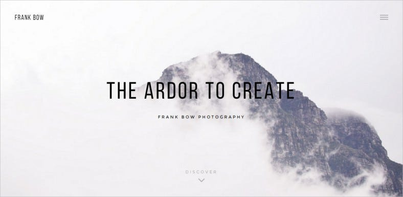 Black & White Clean Photography Portfolio Wp Theme