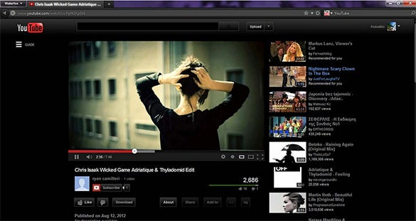 black youtube theme