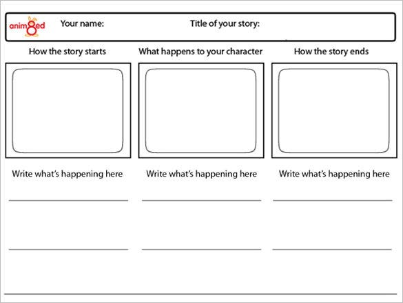 Pin storyboard template pdf on pinterest for Film storyboard template word
