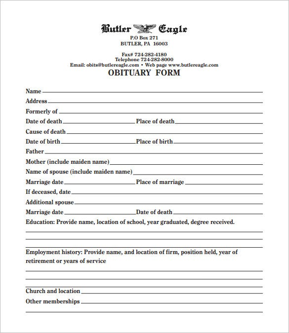 free online obituary template 19 free obituary templates pdf doc free premium