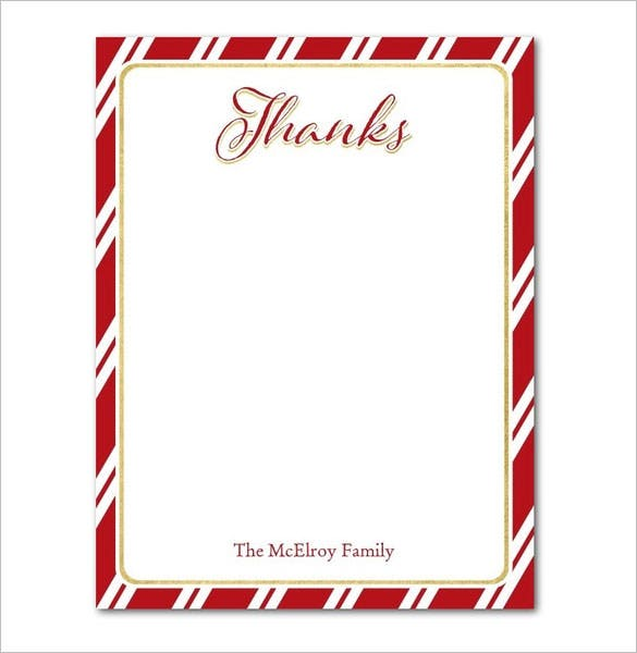 15+ Holiday Thank You Cards – Free Printable Psd, Pdf, Eps Format
