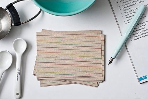 blank rainbow index card 12
