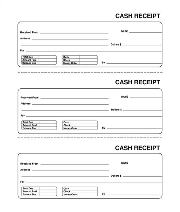 receipt template  u2013 90  free printable word  excel  pdf format download