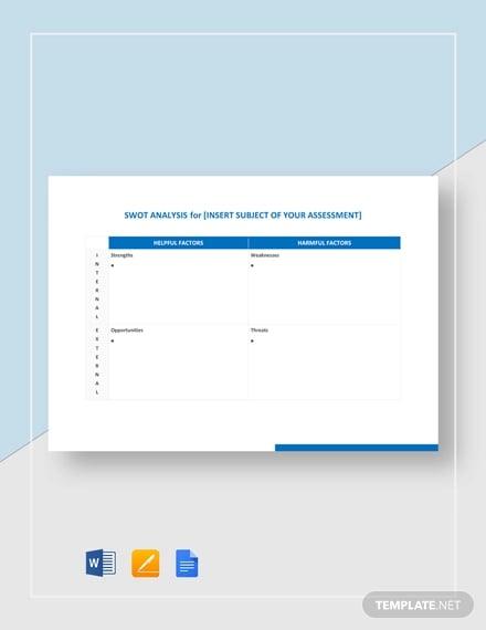 swot analysis template word pdf