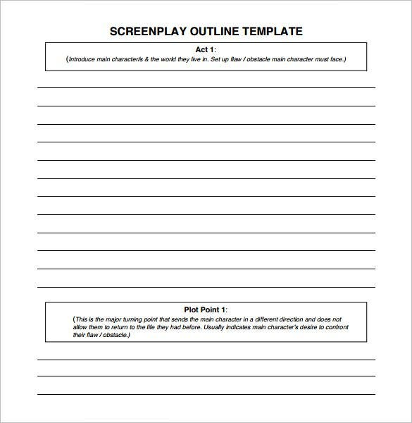 Screenplay Outline Template   Free Word Excel Pdf Format