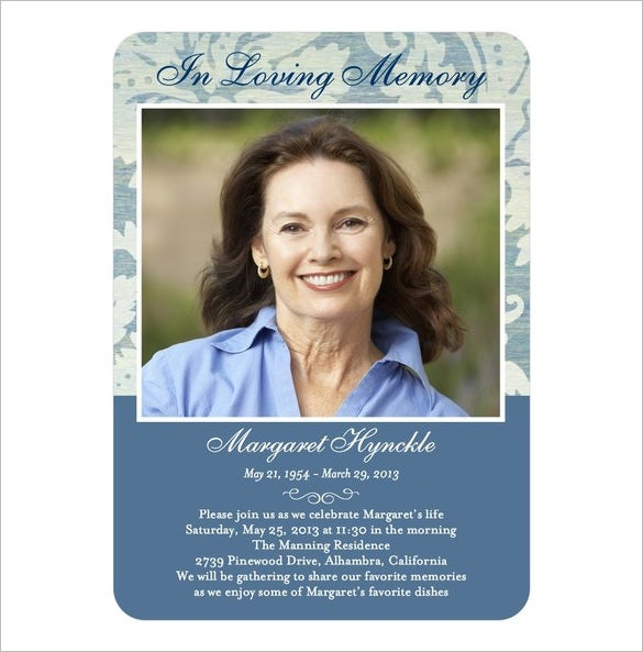 16 obituary card templates free printable word excel pdf psd format download free. Black Bedroom Furniture Sets. Home Design Ideas