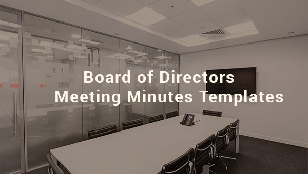 board of directors meeting minutes template3