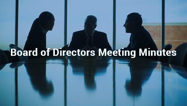 boardofdirectorsmeetingminutes.