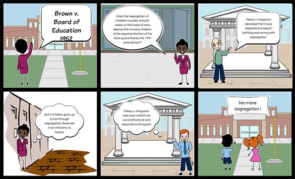 board of education storyboard template ppt example