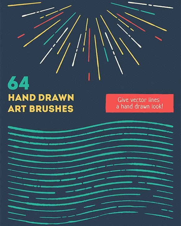 bold vector brush set illustrator