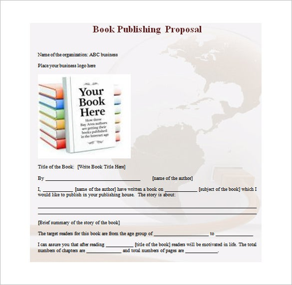 book publishing proposal word free download