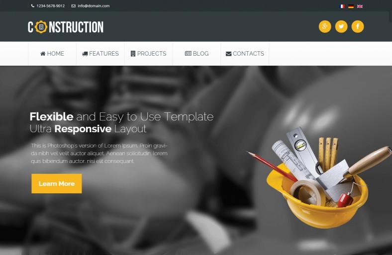 Bootstrap 3 Industrial Joomla Template