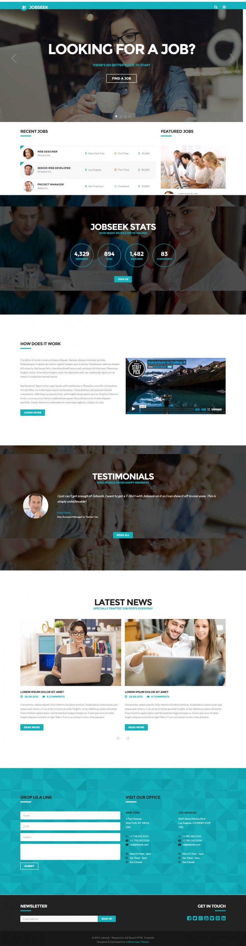 Bootstrap 3 Responsive Job Board HTML Template