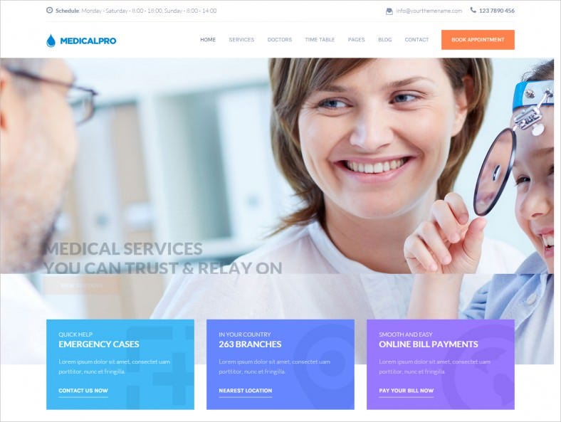 bootstrap responsive health medical html template 788x593
