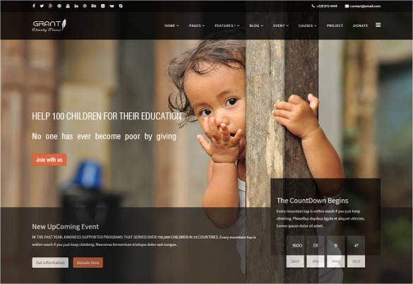 bootstrap responsive nonprofit html5 template1