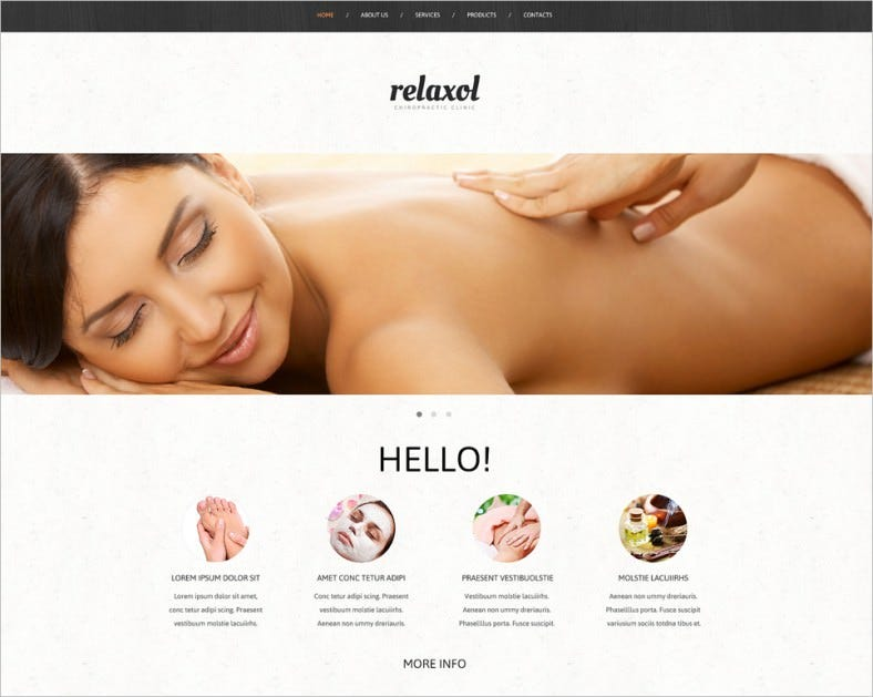 Bootstrap Responsive Website Template for Massage Salon