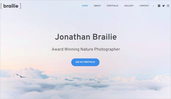 brailie photography template