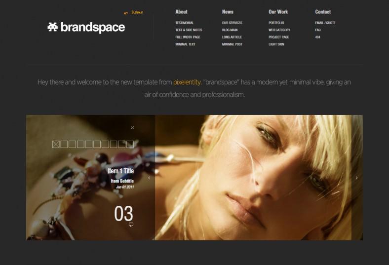 brandspace minimal portfolio business template 788x537