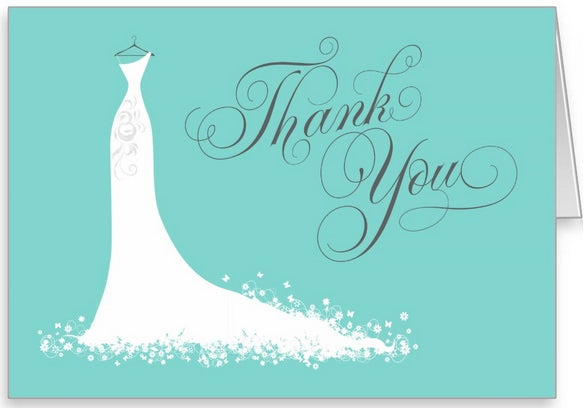 Bridal Shower Thank You Card Template Folded