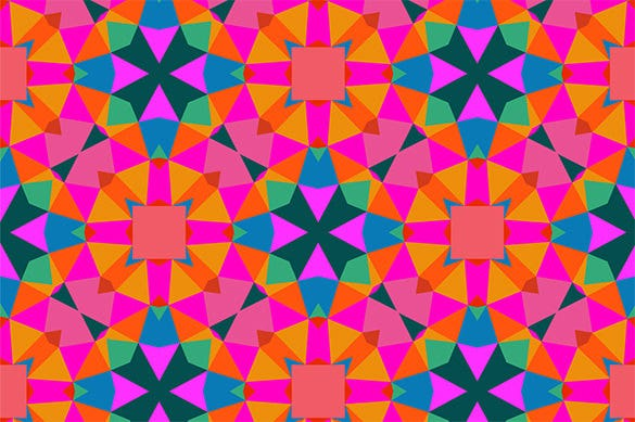bright color geometric pattern