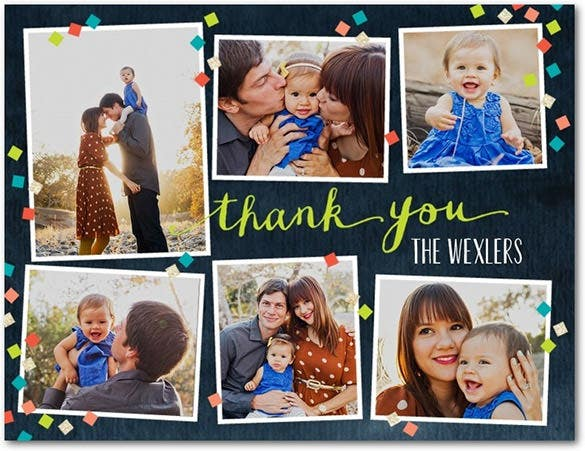 bright green thank you card template download