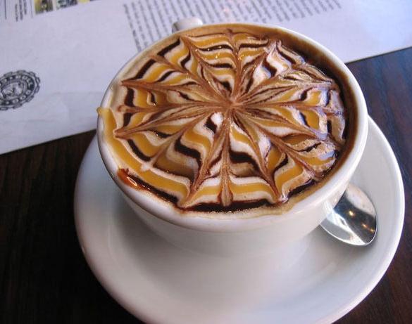 bulldog coffee latte art
