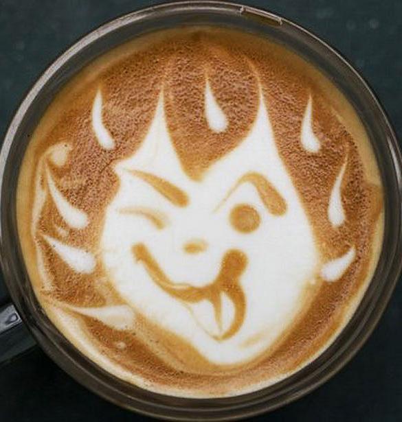 burning coffe art