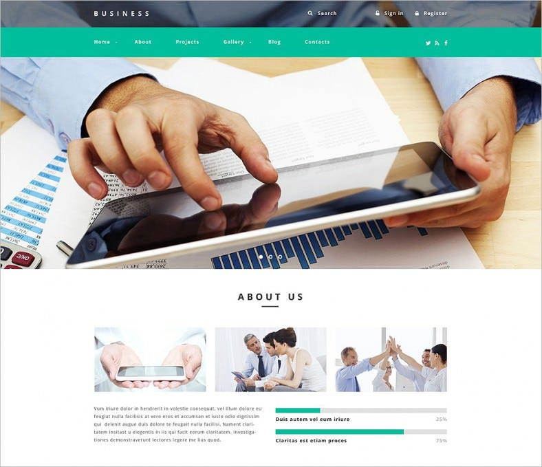 business agency drupal template 788x679