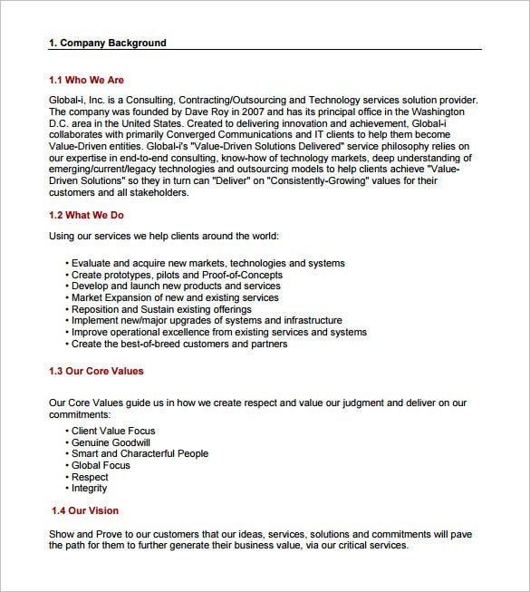 Free Consulting Proposal Template  Proposal Of Services Template