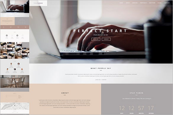 business html one page template