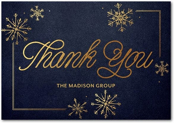business holiday thank you card template