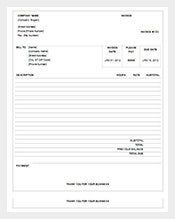 business invoice receipt format free