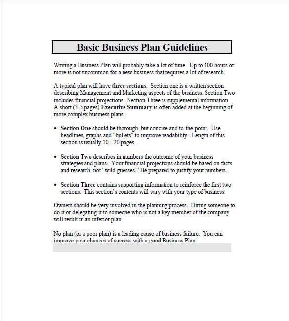 business plan index