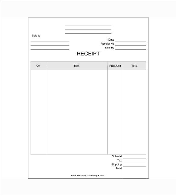 Business Receipt Template 11 Free Sample Example Format – Receipt Examples