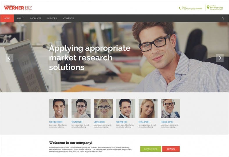 business responsive website template 788x542