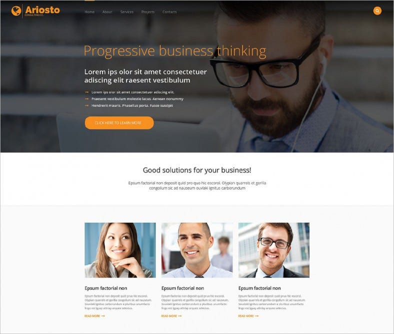 Business Service Responsive Website Template