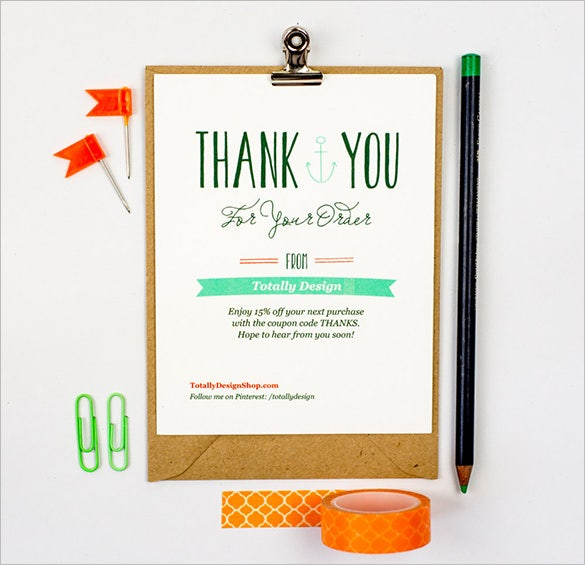 business thank you card download