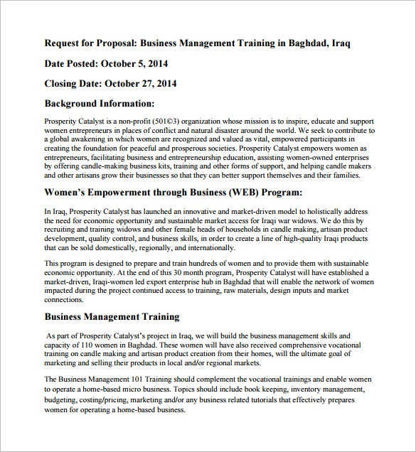 Training Proposal Template – 11+ Free Word, Excel, Pdf, Ppt Format