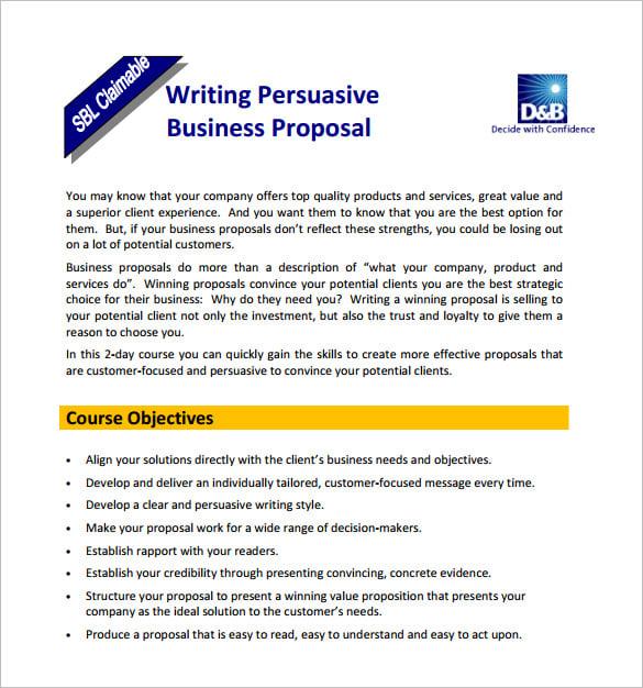 Business Sale Proposal Template Datariouruguay