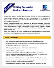 business writing proposal