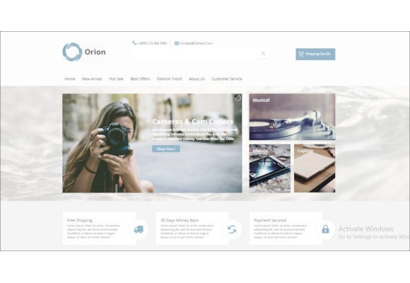 businesses e commerce joomla template
